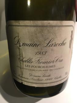 1983 Domaine Laroche, Chablis Premier Cru Les Fourchaumes, Burgundy, France