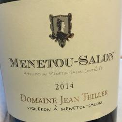 2014 Domaine Jean Tellier, Menetou-Salon, Loire Valley, France
