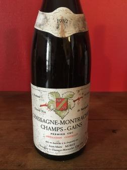 1982 Domaine Jean-Marc Morey, Chassagne-Montrachet Premier Cru Champs-Gains red, Burgundy, France