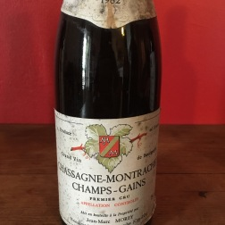 1982 Domaine Jean-Marc Morey, Chassagne-Montrachet Premier Cru Champs-Gains red, Burgundy, France