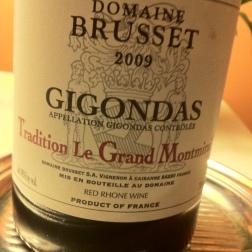 2009 Domaine Brusset, Gigondas Tradition Le Grand Montmirail, Rhône, France