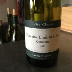2013 Thevenet Domaine Emilian Gillet, Viré-Clessé Quintaine, Mâconnais, France