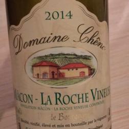2014 Domaine Chêne, Mâcon La Roche-Vineuse Blanc, Burgundy, France