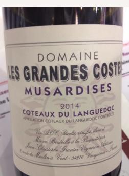 2014 Domaine Les Grandes Costes, Côteaux du Languedoc Musardises, Languedoc-Roussillon, France