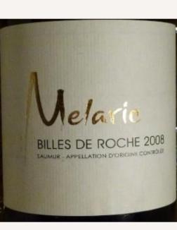 2008 Melaric, Saumur Blanc Billes de Roche, Loire, France