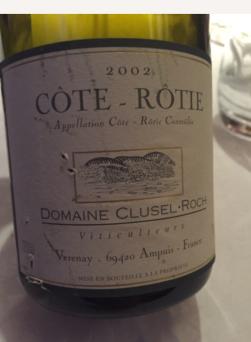2002 Domaine Clusel-Roch, Côte Rotie, Rhône, France